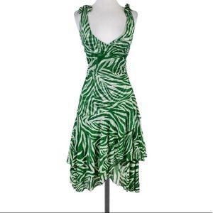 Diane Von Furstenberg Green Zebra Print Dress